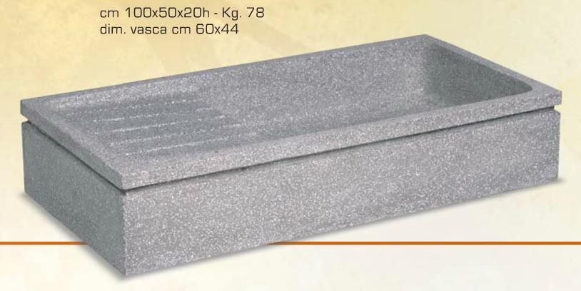 Giardino, lastricati e pietre: Lavello in graniglia 100x50x20
